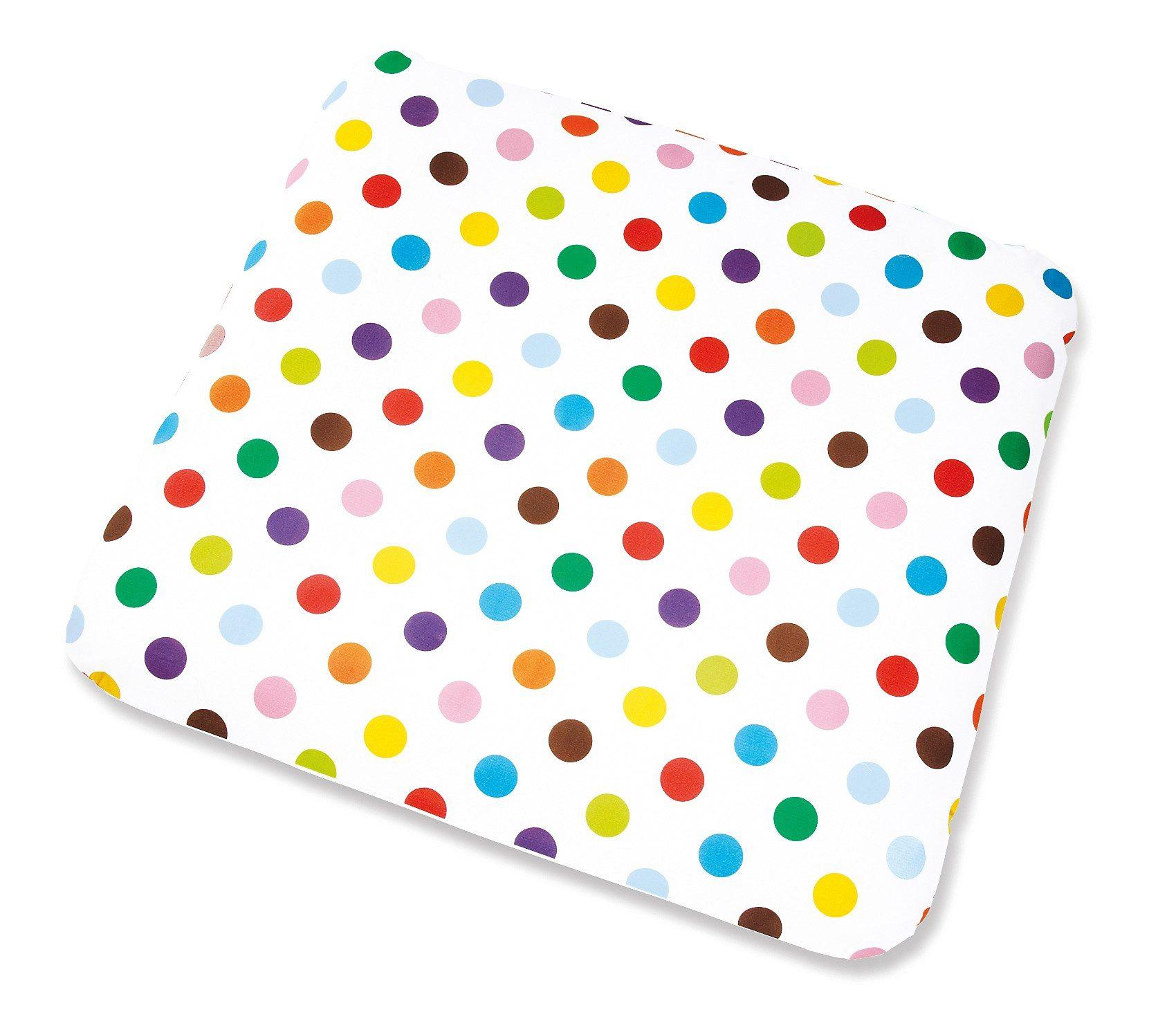 Pinolino Bezug für Wickelauflage Dots, 85 x 75 cm