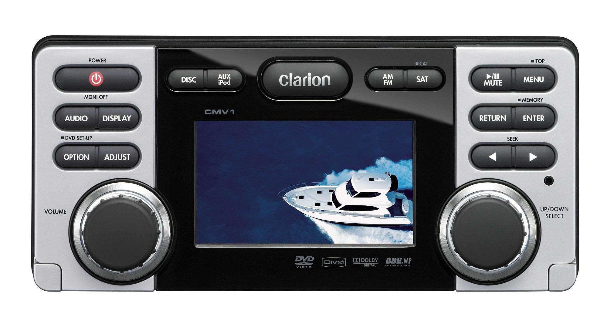 Clarion 2-DIN Marine Receiver »CMV1«