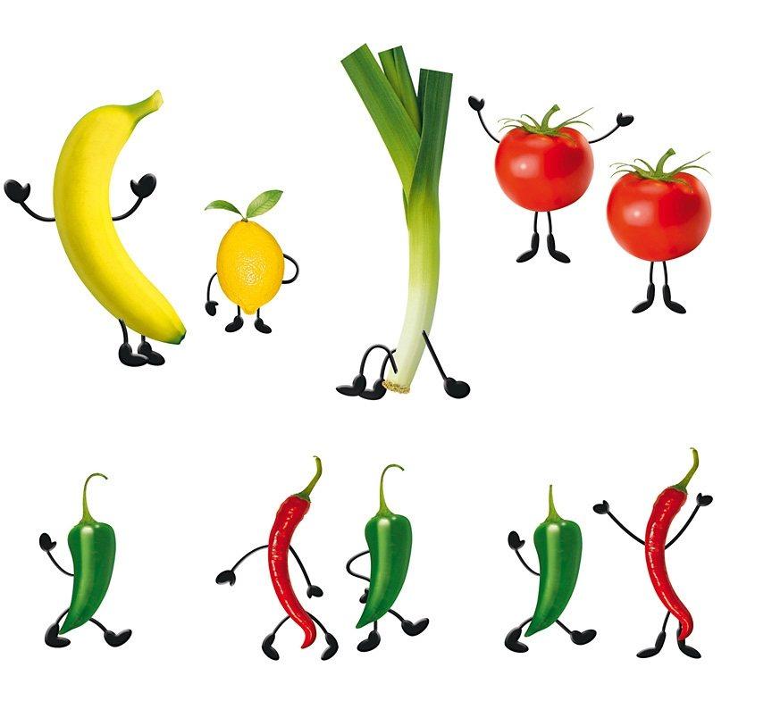 Fensterbilder, EUROGRAPHICS, »Crazy Vegetables« in bunt