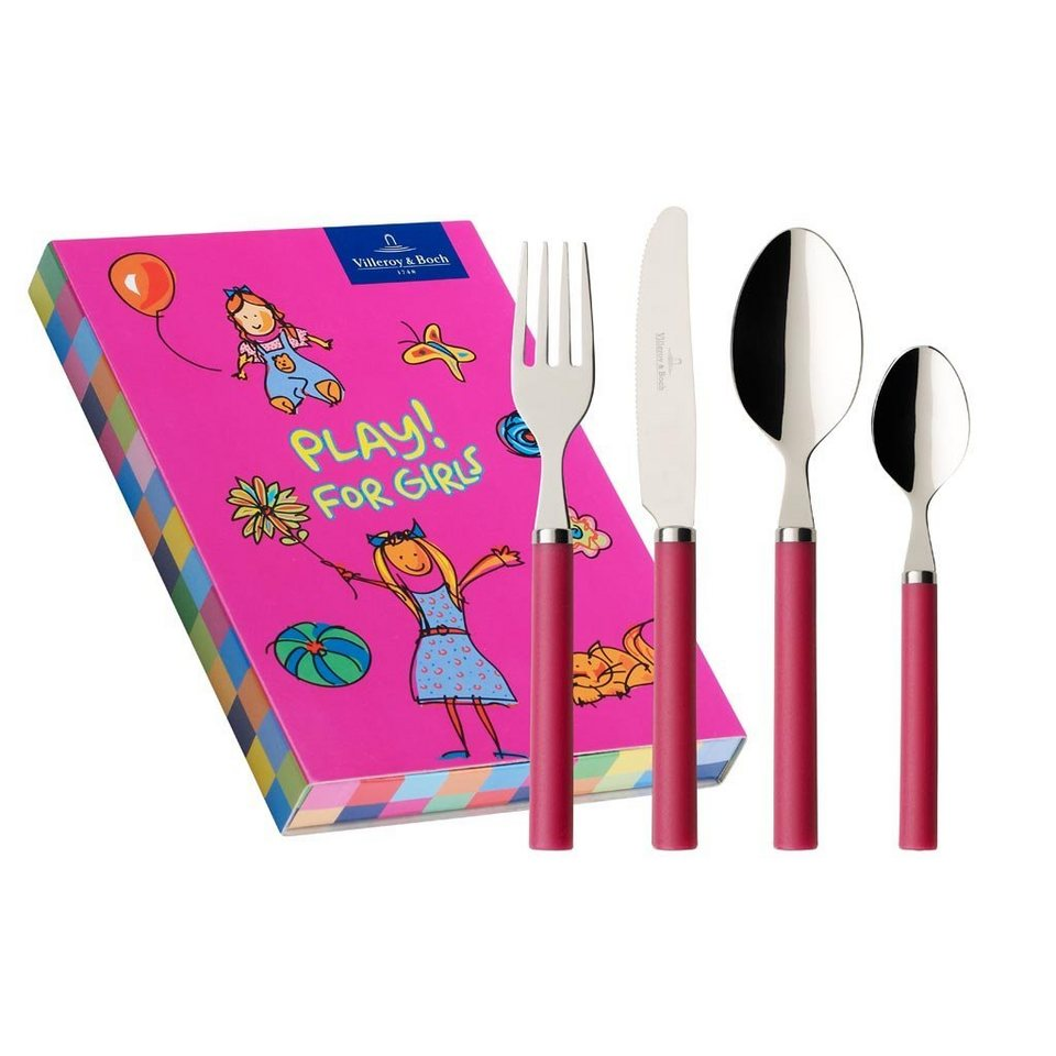 VILLEROY & BOCH Kinderbesteck 4tlg. »Play! for girls«