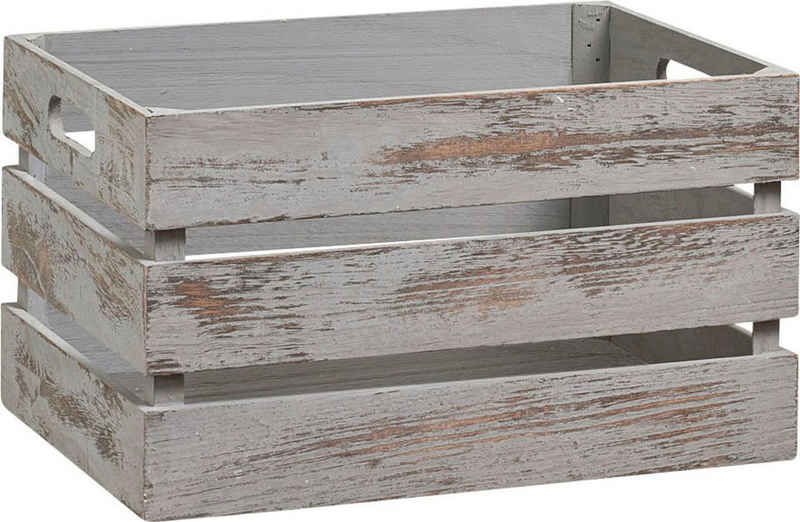 Zeller Present Holzkiste »Vintage« (1 Stück), Tiefe: ca. 25 cm, Breite: ca. 35 cm