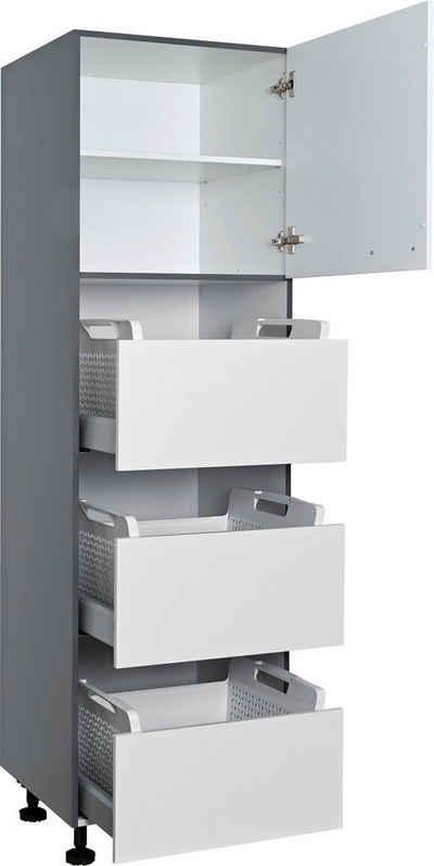 Express Küchen Wäscheschrank »ARTA« vormontiert
