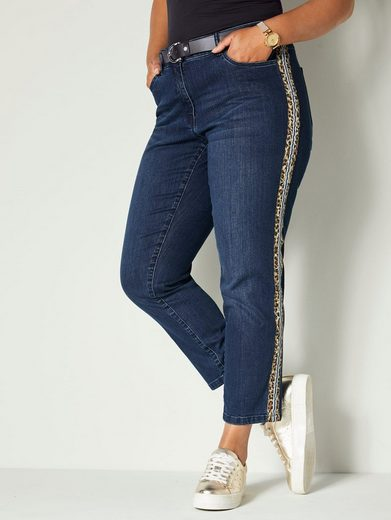 Angel of Style by Happy Size Jeans mit Galonstreifen