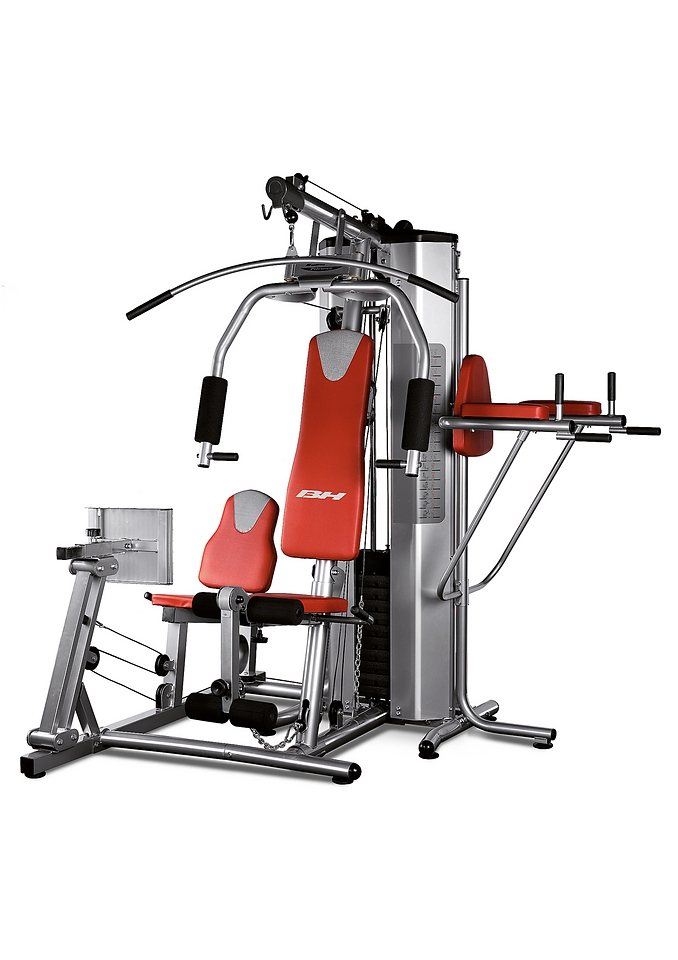 Kraftstation, grau-rot, »Global Gym Plus«, BH-Fitness in grau-rot
