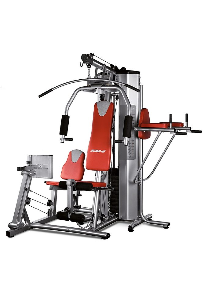 Kraftstation, grau-rot, »Global Gym Plus«, BH-Fitness