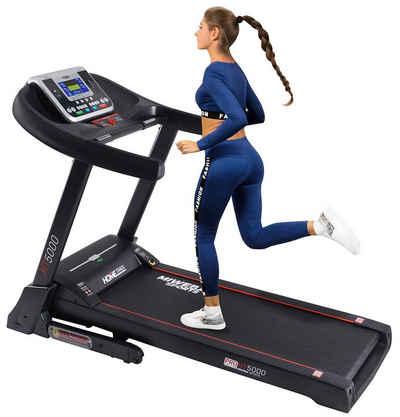 Miweba Sports Laufband »HT5000«, Incline bis 15% - Große Lauffläche – 7 PS - 18 km/h - 12 Laufprogramme - Innovatives Dämpfungssystem – Klappbar
