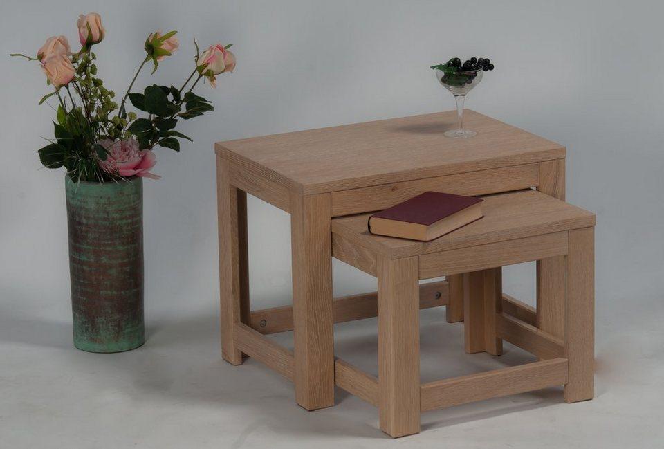 Zweisatztisch, »Buja« in Eiche sägerau