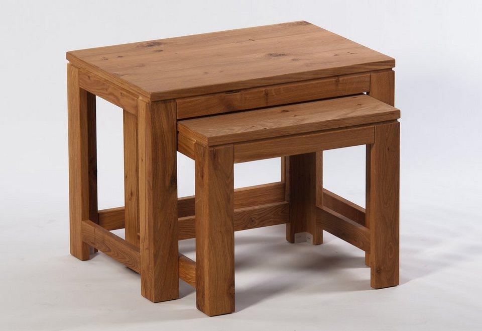 Zweisatztisch, »Buja« in Wildeiche geölt