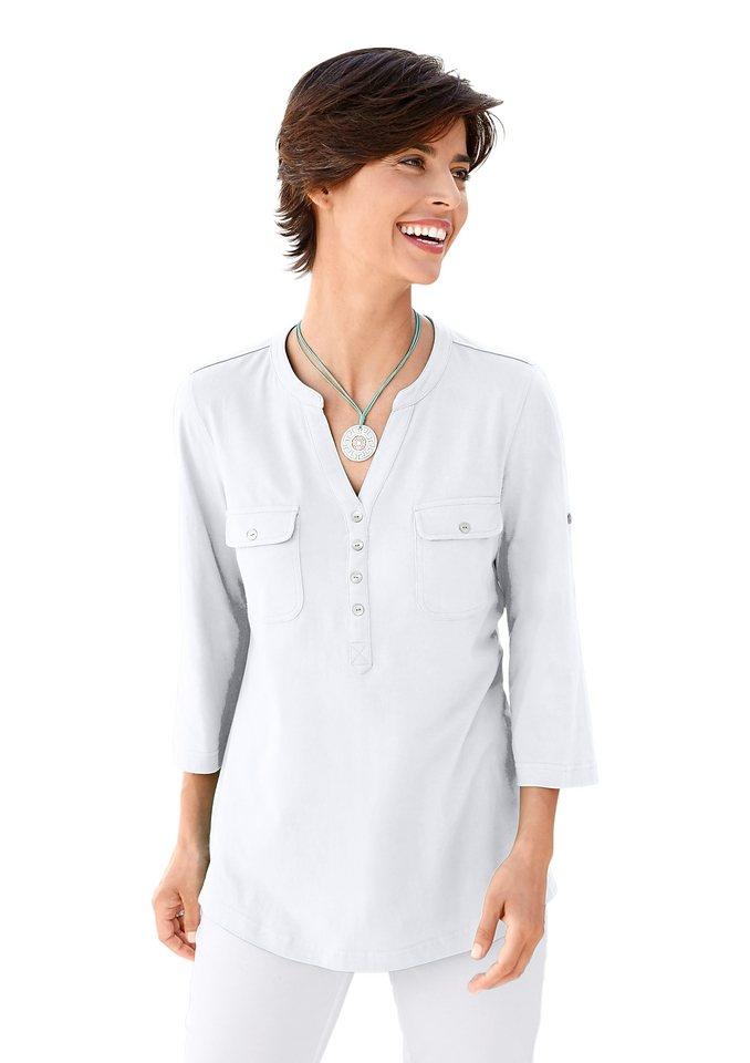 Collection L. Shirttunika mit Seitenschlitze für viel Bewegungsfreiheit in weiß