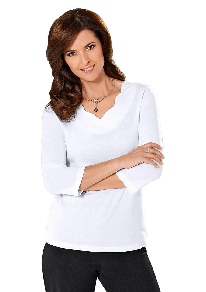 Lady Shirt in außergewöhnlichen Dessin in weiß