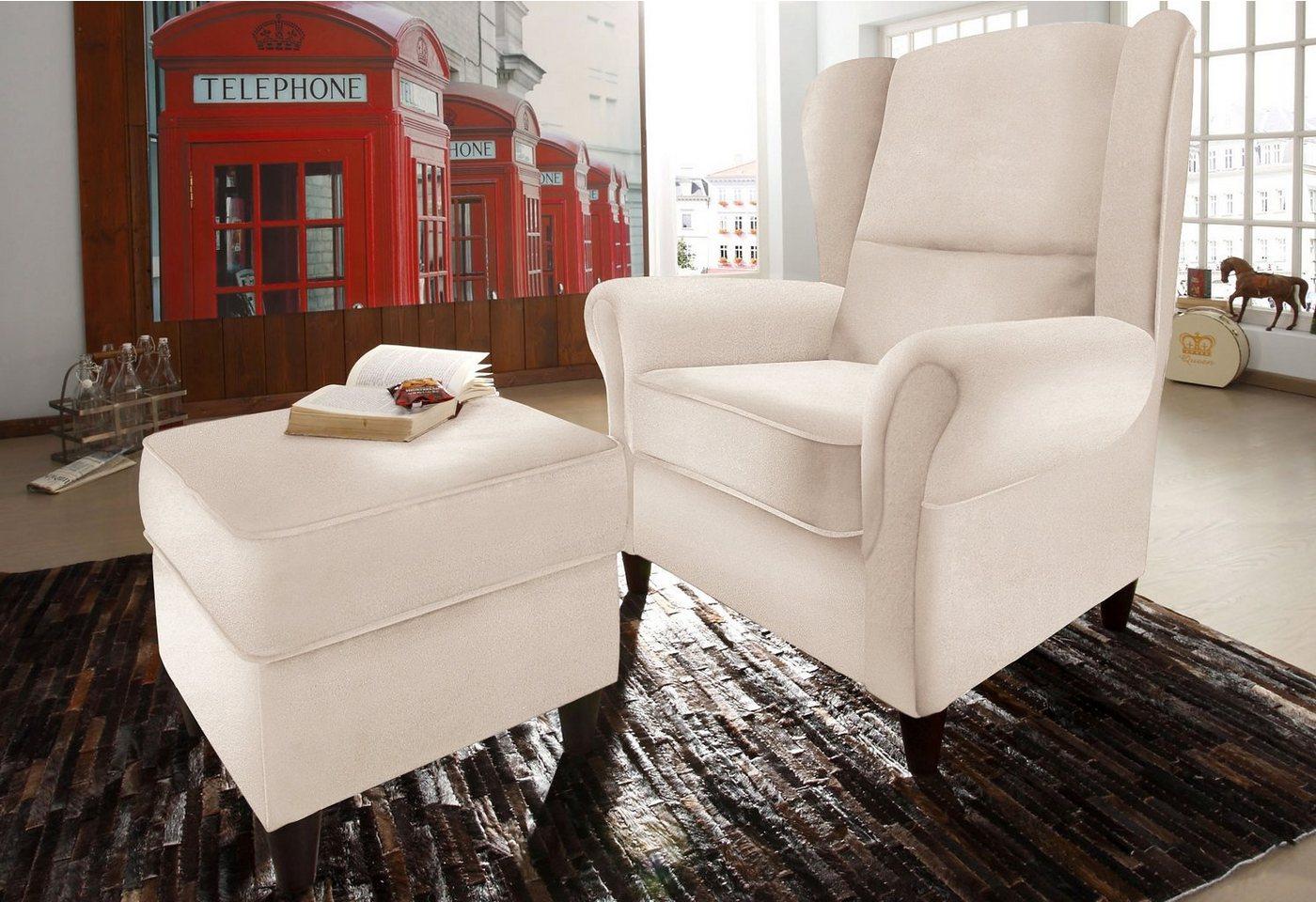 ohrenbackensessel mit hocker sonstige preisvergleiche. Black Bedroom Furniture Sets. Home Design Ideas
