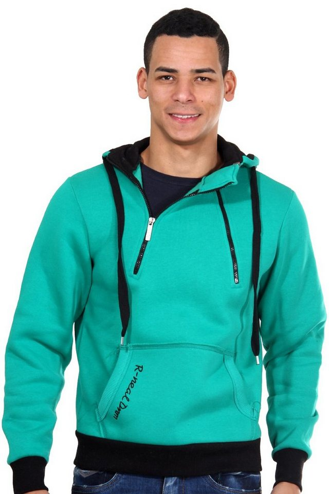 R-NEAL Kapuzensweater mit Zip regular fit in grün