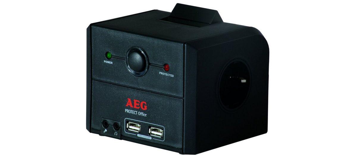 AEG Steckdosenleiste »3-fach mit Überspannungsschutz«