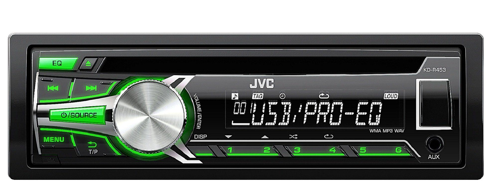 JVC 1-DIN Autoradio USB/CD-Receiver »KD-R453E«