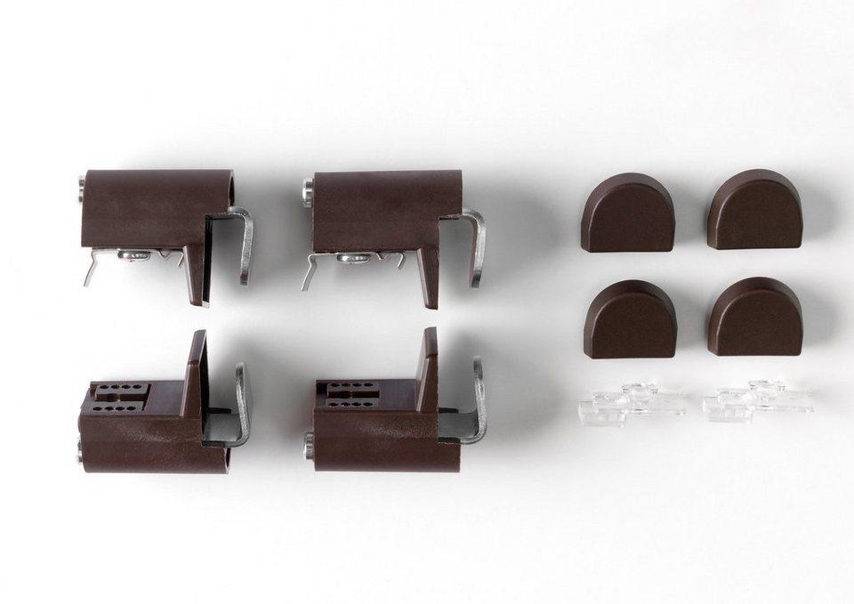 Klemmhalter-Set für Plissee »Rena«, im Wunschmaß, einseitig verschiebbar (4er-Set) in bronze
