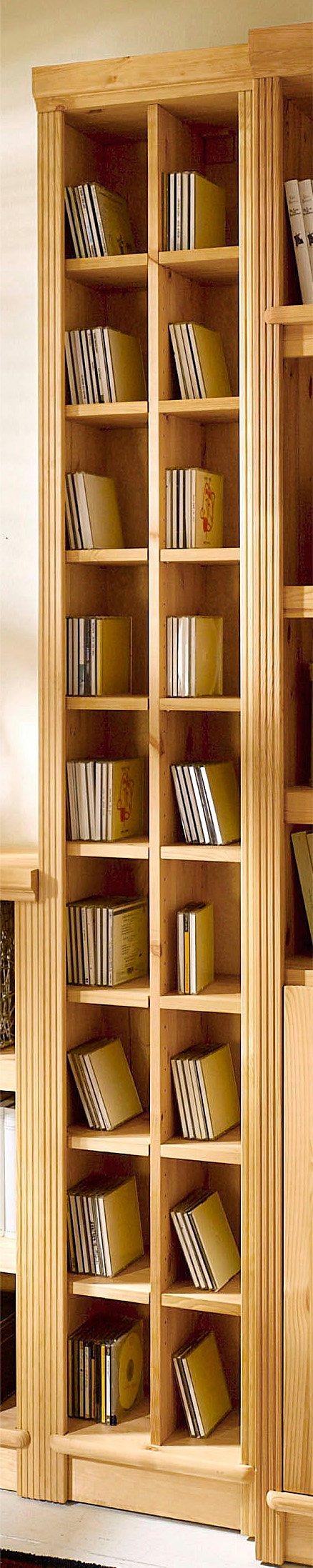 CD-Regal, Home affaire, »Soeren«, in 2 Höhen, Tiefe 29 cm | Wohnzimmer > TV-HiFi-Möbel > CD- & DVD-Regale | Weiß | Massivholz - Gebeizt - Poliert | Home affaire