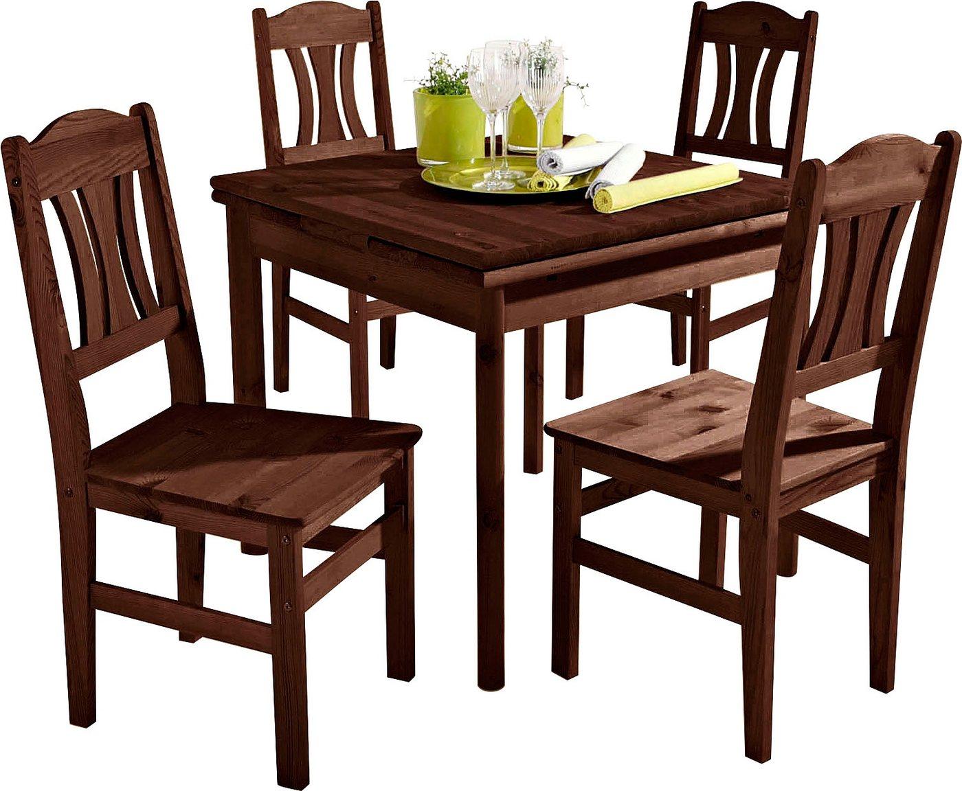 Esstisch kolonialfarben preisvergleiche for Tischplatte massivholz