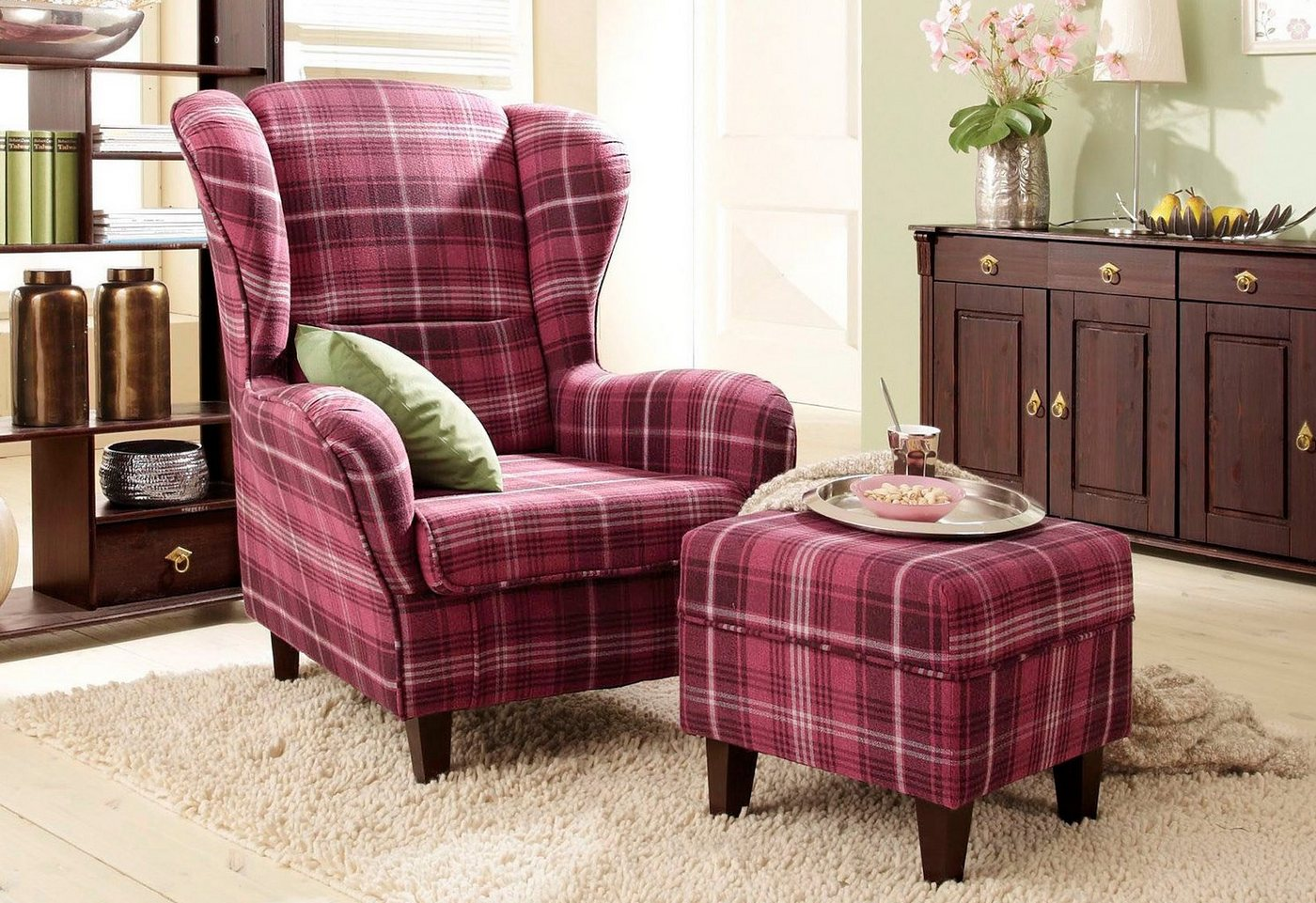 landhausstil ohrensessel preisvergleiche. Black Bedroom Furniture Sets. Home Design Ideas