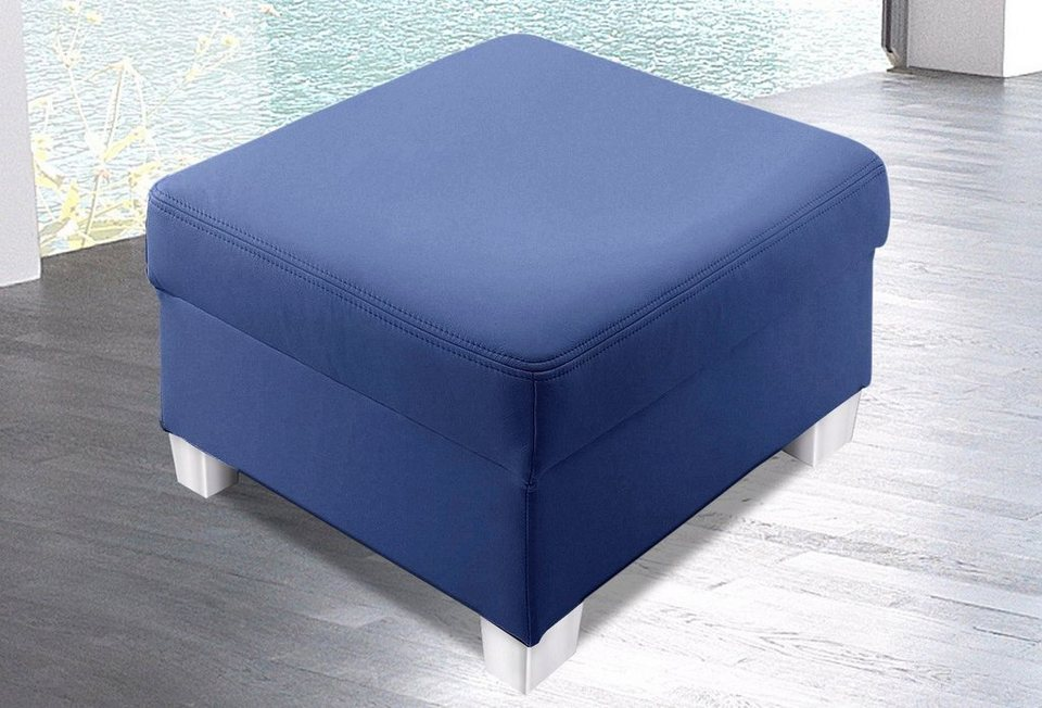Hocker in blau