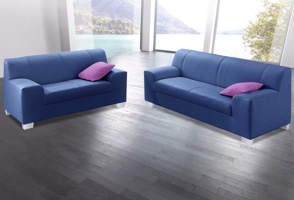 Set: 2- und 3-Sitzer in blau