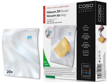 caso design vakuum zip beutel caso zip beutel 20x23 cm 20 st ck online kaufen otto. Black Bedroom Furniture Sets. Home Design Ideas