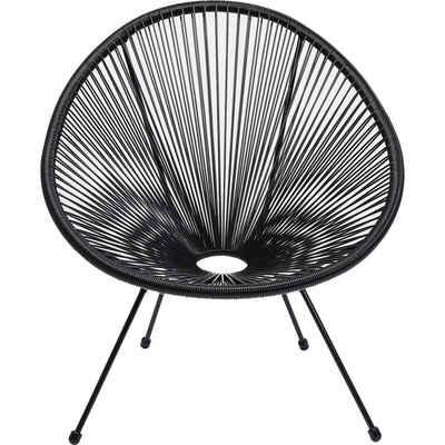 KARE Sessel »Sessel Acapulco Schwarz«, Gestell: Stahl pulverbeschichtet, Sitzschale: Polyethylen