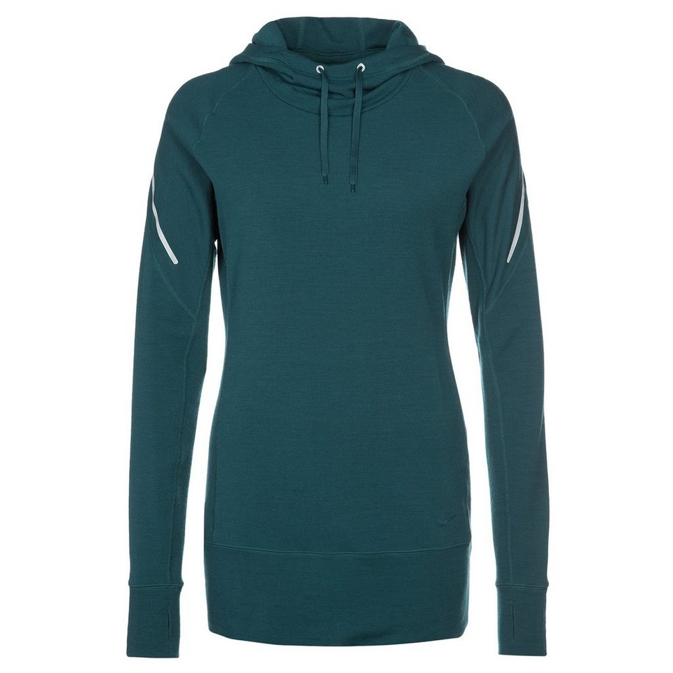 NIKE Dri-FIT Wool Hoody Trainingskapuzenpullover Damen in blau