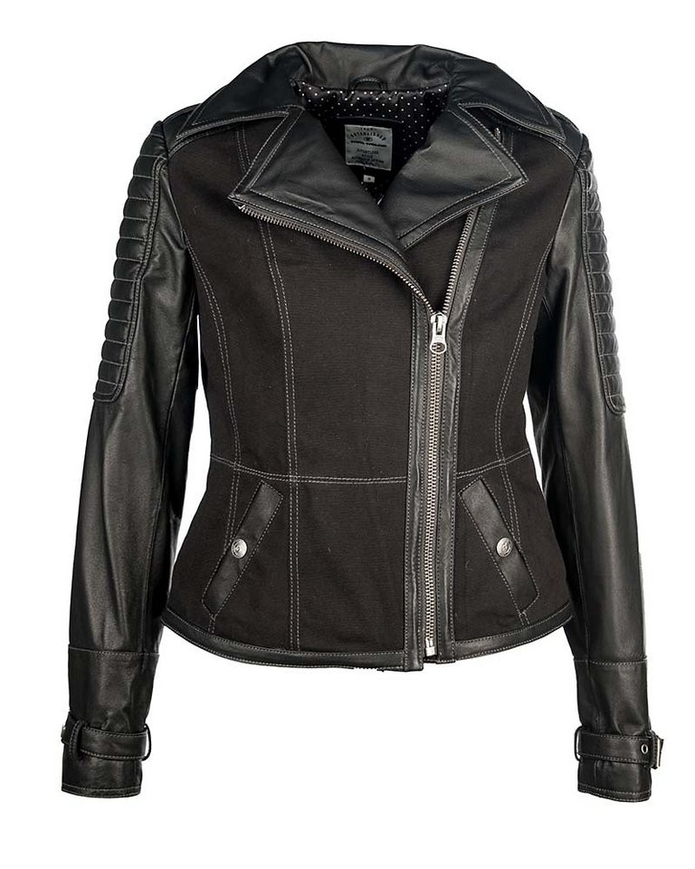 TOM TAILOR Lederjacke, Damen »W14-17-B« in black