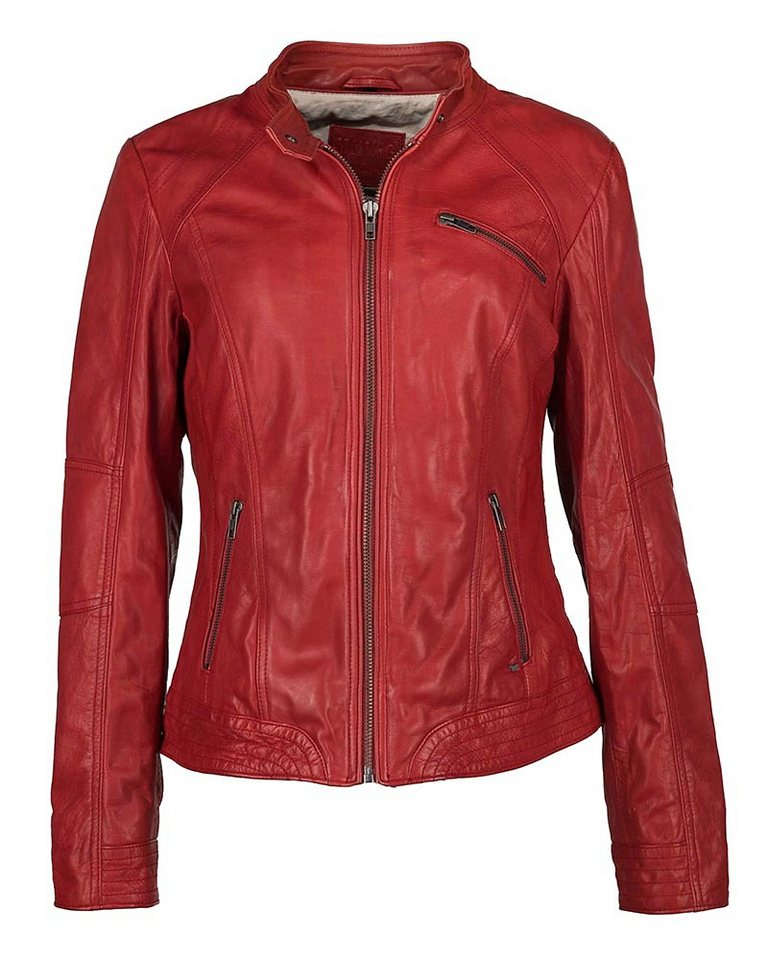 Mustang Lederjacke, Damen »Lae« in red