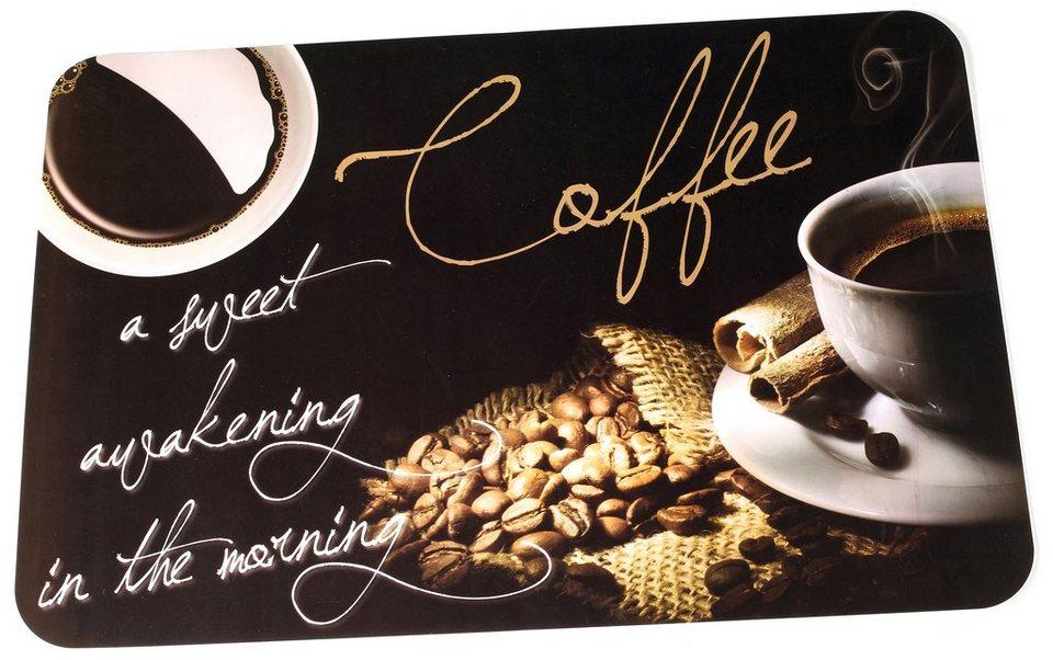 SET: Platzmatten, Ritzenhoff & Breker, »COFFEEBEAN« (6tlg.) in schwarz, braun, weiß