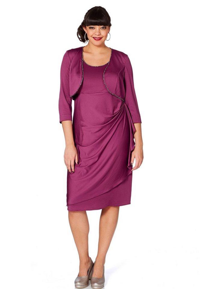 sheego Style Kleid in fuchsia