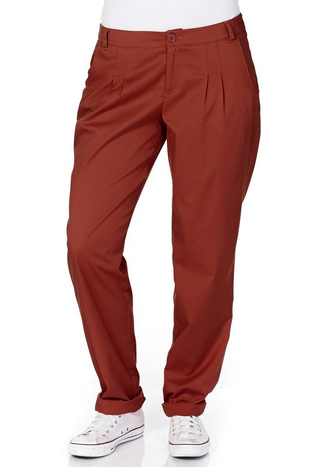 sheego Casual Luftige Chinohose in rost