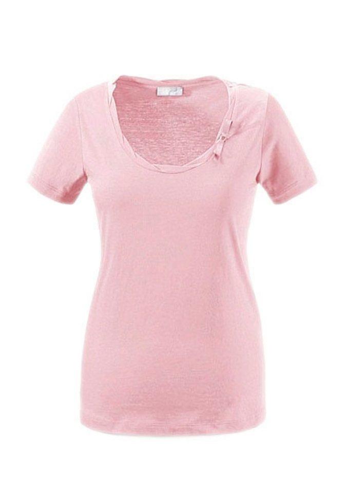Cheer T-Shirt mit dekorativer Zierschleife in rosé