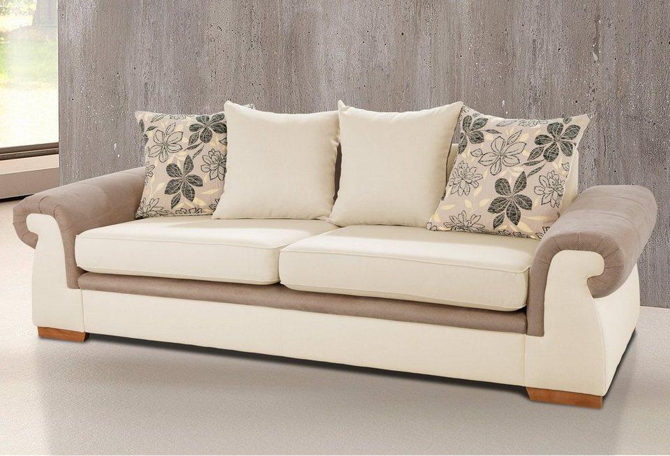 Home affaire 3-Sitzer »Avanti« in beige/braun