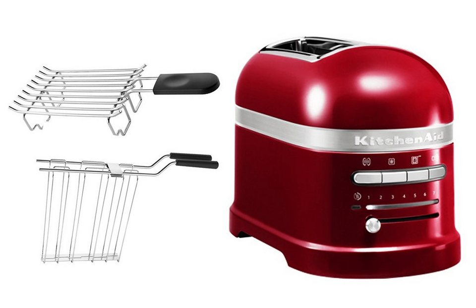KitchenAid Toaster »Artisan 5KMT2204ECA«, für 2 Scheiben, liebesapfelrot in liebesapfelrot