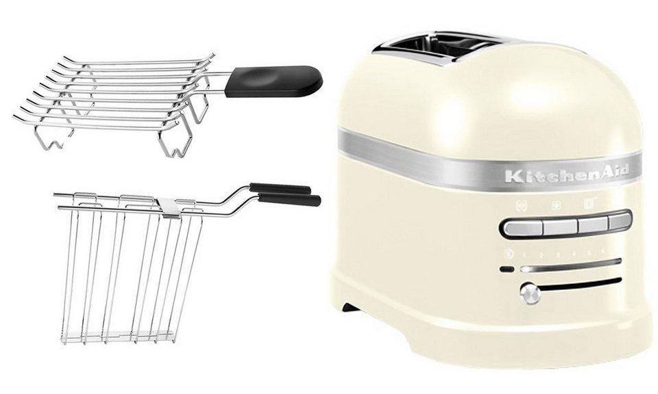 kitchenaid toaster artisan 5kmt2204eac f r 2 scheiben cr me online kaufen otto. Black Bedroom Furniture Sets. Home Design Ideas