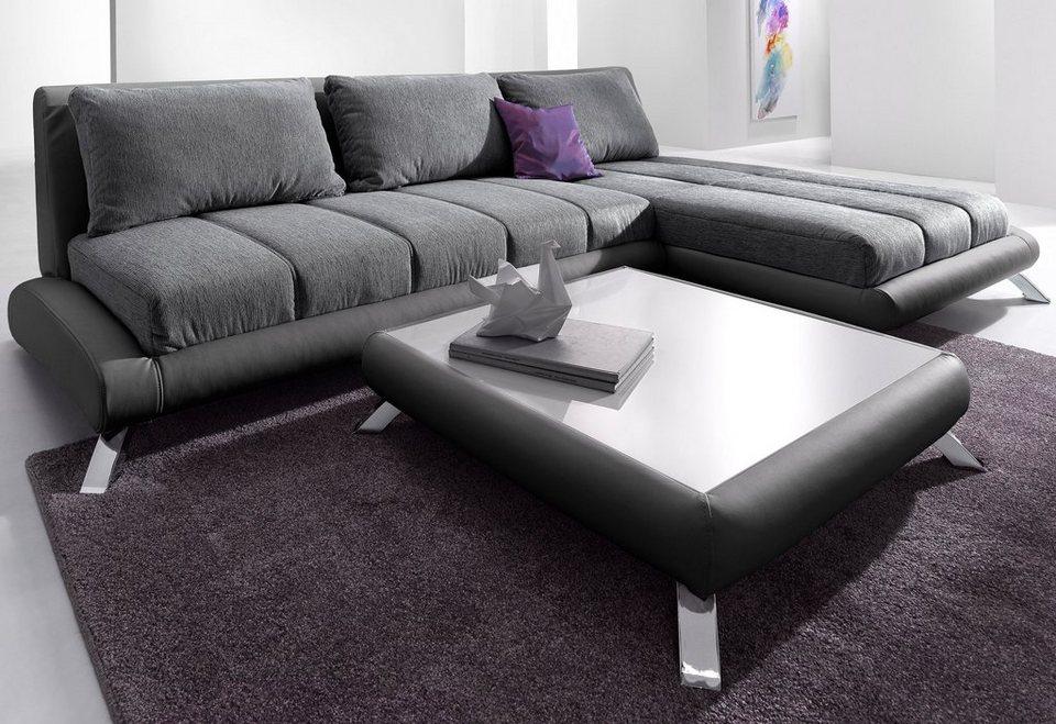 domo collection ecksofa mit recamiere kaufen otto. Black Bedroom Furniture Sets. Home Design Ideas