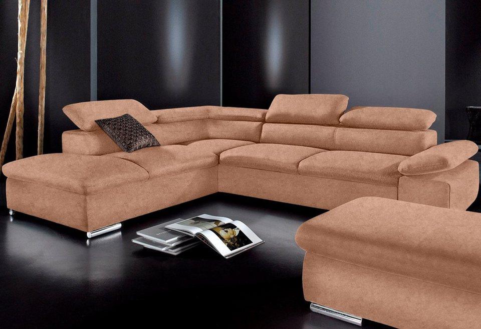 polsterecke sit more wahlweise mit bettfunktion online. Black Bedroom Furniture Sets. Home Design Ideas