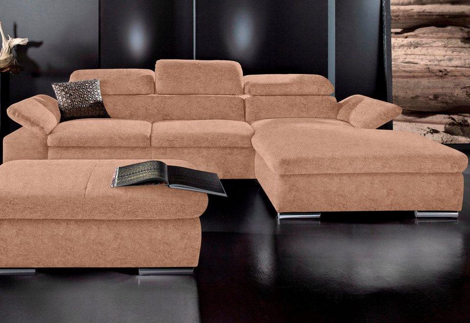 Polsterecke, Sit & More, wahlweise mit Bettfunktion in braun