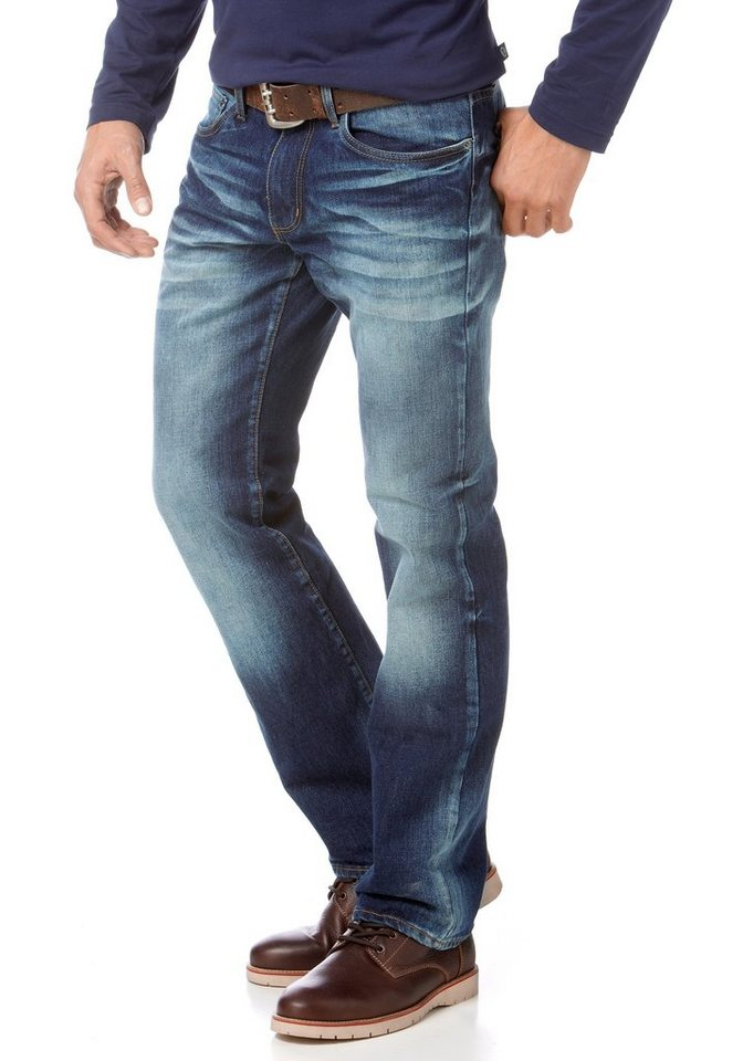 Rhode Island Straight-Jeans in dark-used