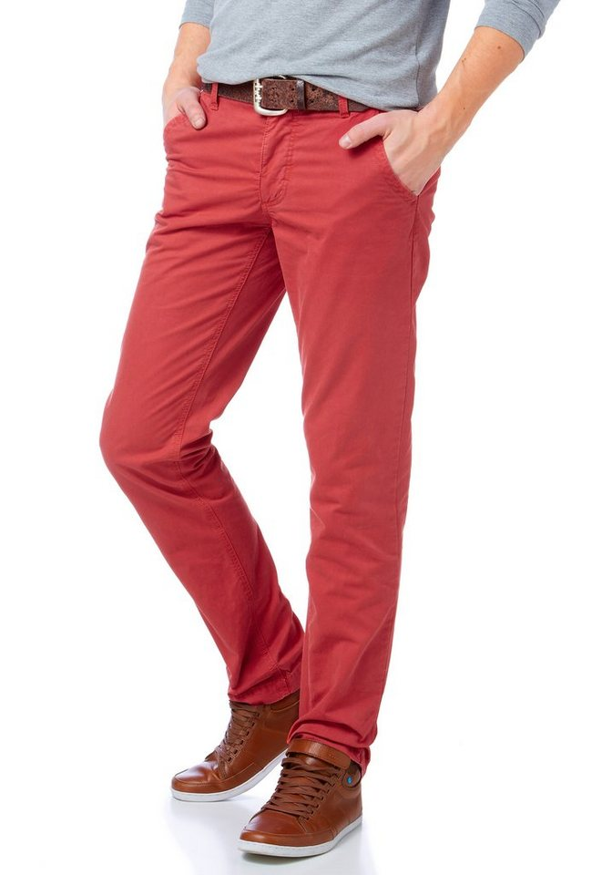 John Devin Chinohose in rot