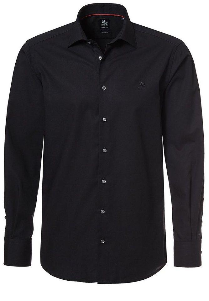 Otto Kern Hemd in schwarz