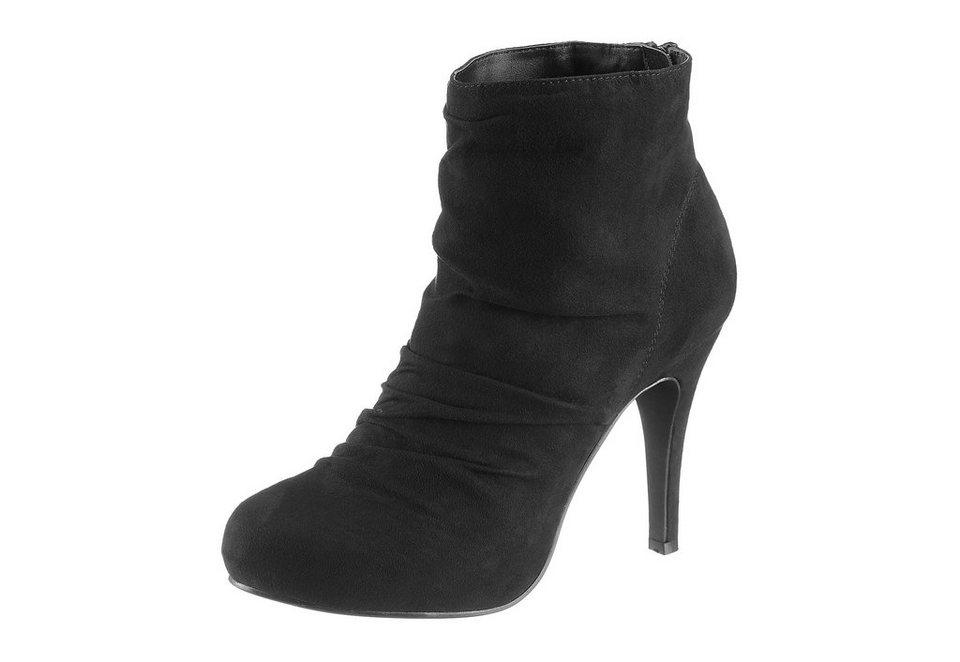 Laura Scott High Heel Stiefelette mit Raffung in schwarz
