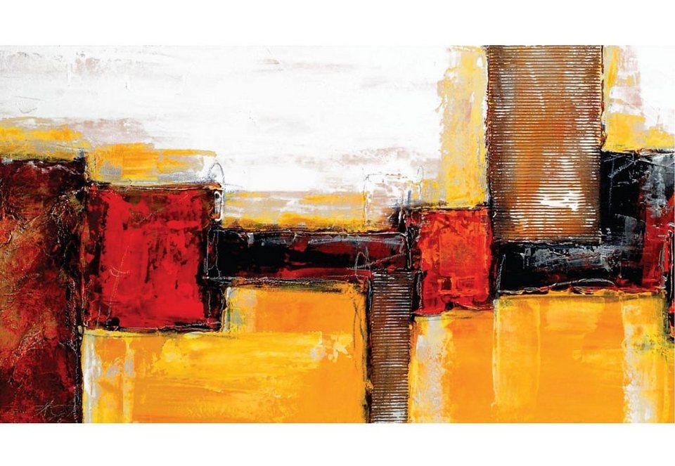 Home affaire Wandbild, Größe 110x60 cm, »Abstract« in bunt