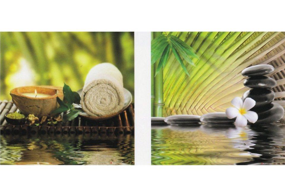 Home affaire Set: Wandbildset, Größe je Bild 30x30 cm, »Ayurveda III / IV« (2tlg.) in bunt