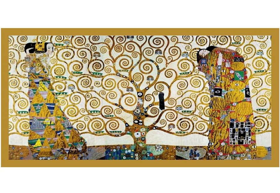 Home affaire Wandbild, Größe 106x56 cm, »KLIMT - Der Lebensbaum« in braun