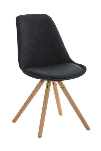 Stühle und Bänke - CLP Esszimmerstuhl »Pegleg Stoff Rund« mit Sitzpolster und runden Holzbeinen  - Onlineshop OTTO