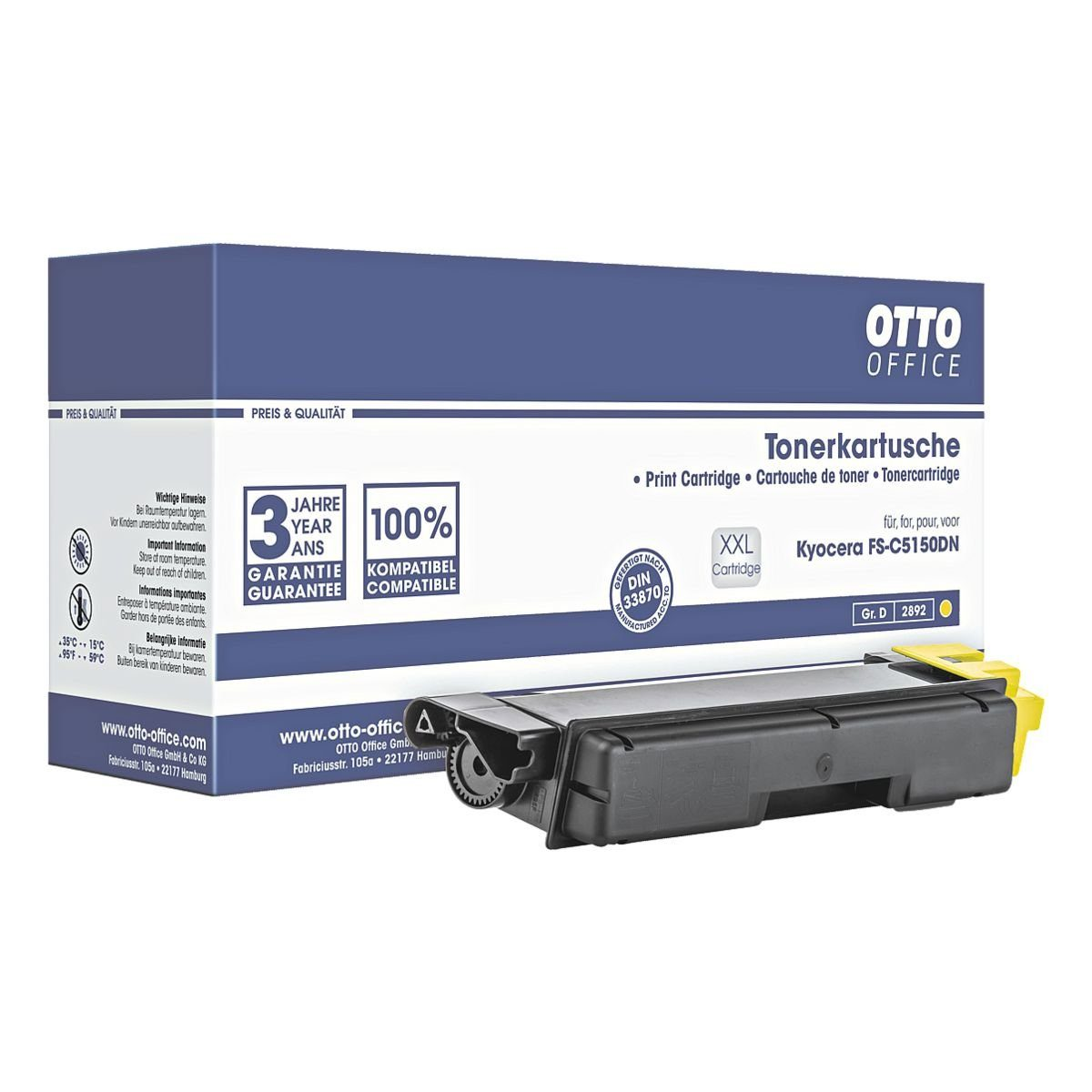 OTTO Office Standard Tonerpatrone ersetzt Kyocera »TK-580Y«