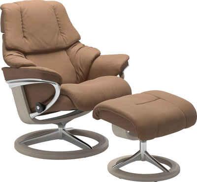 Stressless® Relaxsessel »Reno« (Set, Relaxsessel mit Hocker)