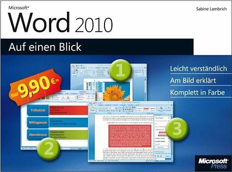 Broschiertes Buch »Microsoft Word 2010 auf einen Blick«